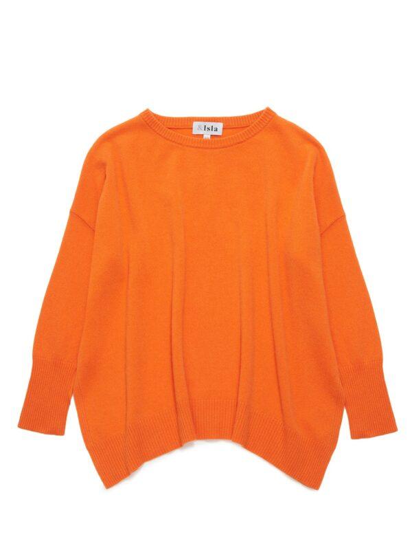 Cashmere jumper sweater Ireland orange blue