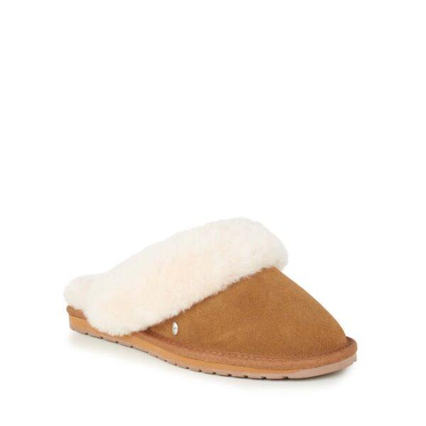 Emu Australia slippers tan suede jolie sheepskin Monreal Ireland