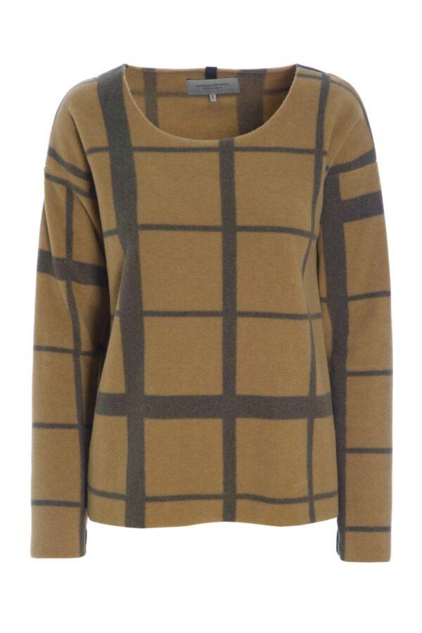 henriette camel fleece check ireland monreal cardigan sweater fleece jumper cork city