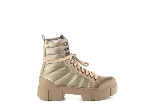 vic matie combat boots ireland padded boots nylon laced up laces chunky sole beige