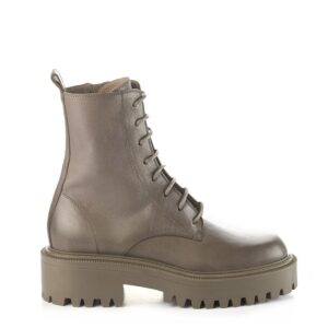 Vic Matie combat boot clay grey lace up boot