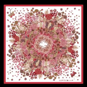 longchamp ireland silk scarg collier fleurs floral